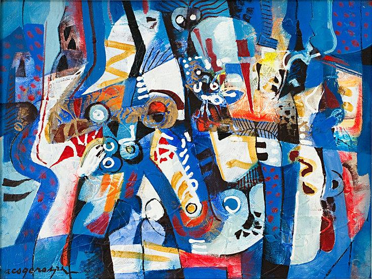 "Blue Composition II - Francisco ""Paco"" Gorospe"