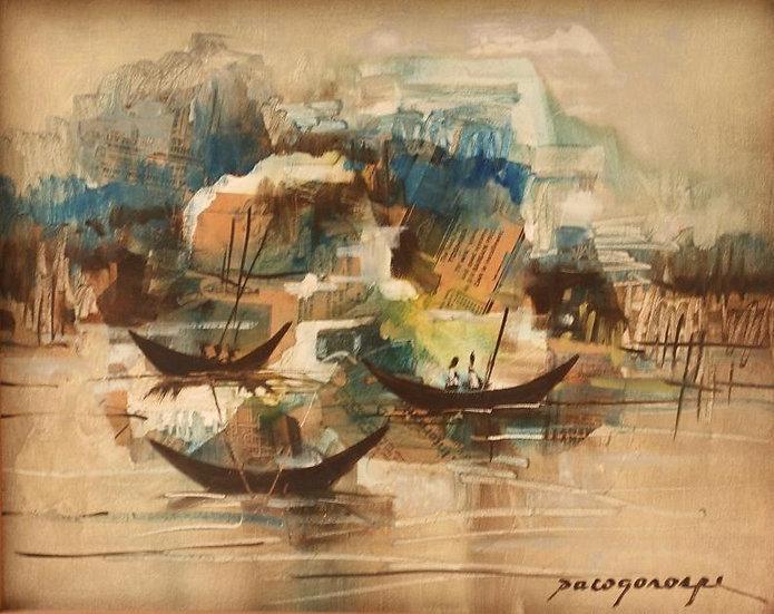 """Three Boats - Francisco """"Paco"""" Gorospe"""