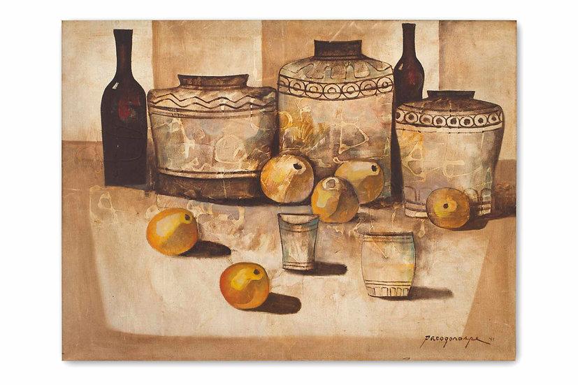 Pots in brown