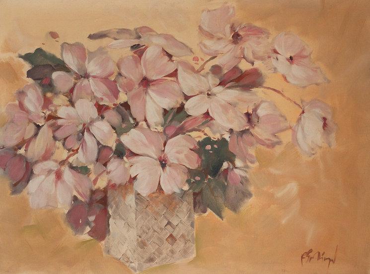 Pink Roses in vase - Roger San Miguel