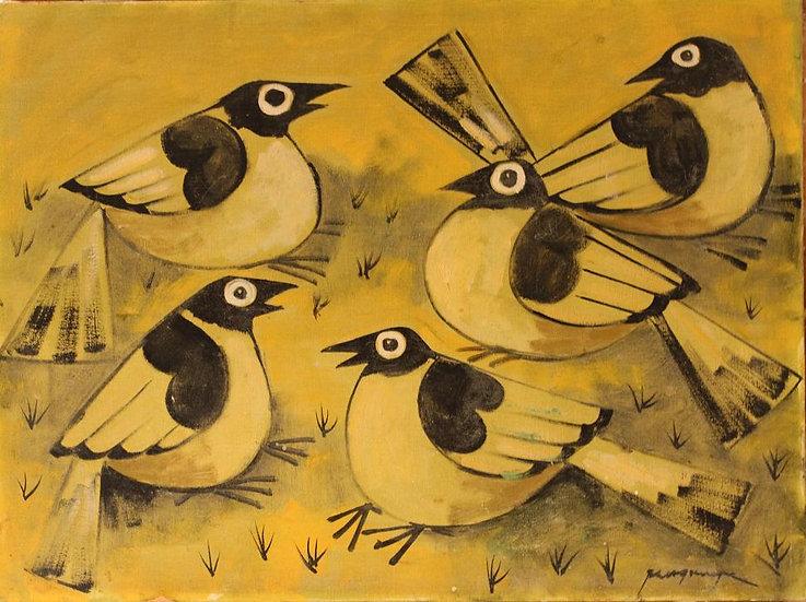 "Five Birds in Yellow - Francisco ""Paco"" Gorospe"
