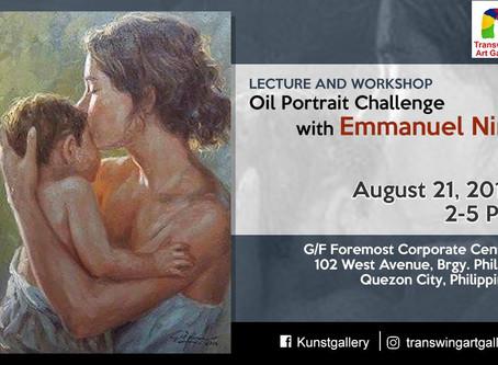 Emmanuel Nim presents oil portrait demo, workshop on August 21