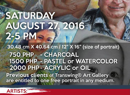 The first 'Weekend Portrait Session' on Saturday, August 27
