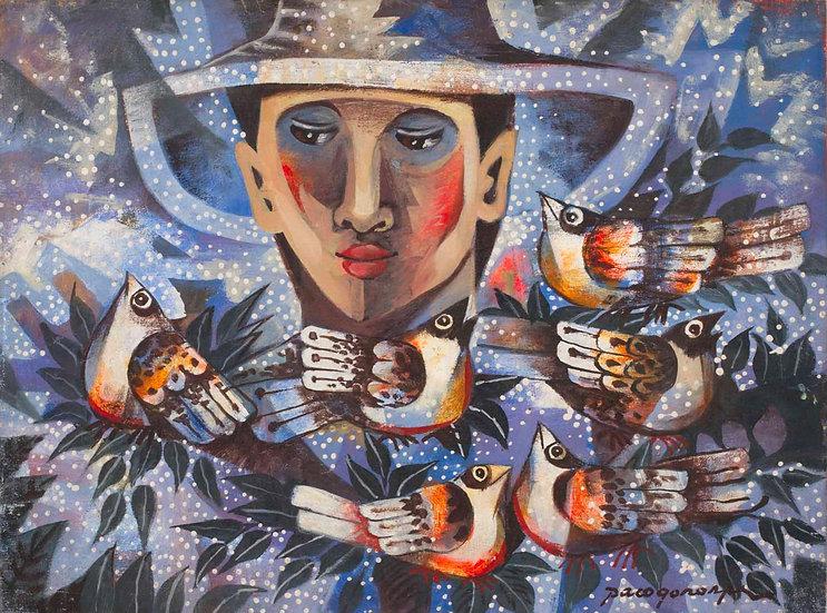"Boy with Birds - Francisco ""Paco"" Gorospe"