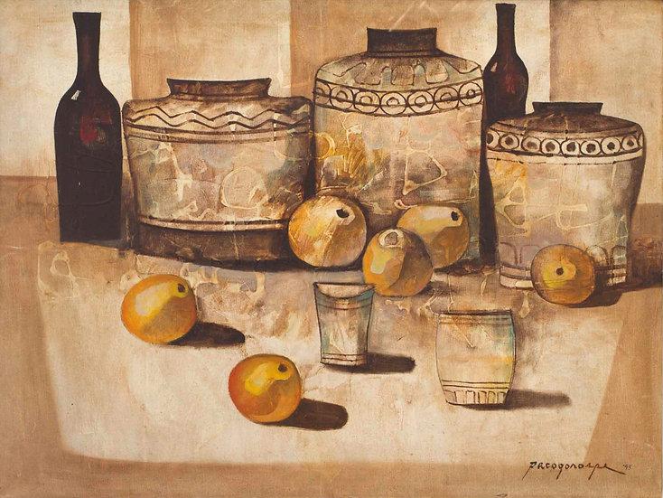 "Pots in brown - Francisco ""Paco"" Gorospe"
