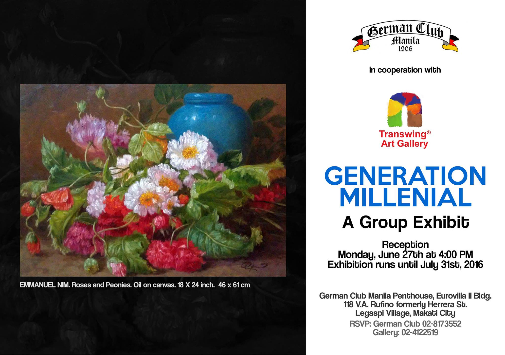 1 GERMAN CLUB INVITATION - GENERATION MILLENIAL