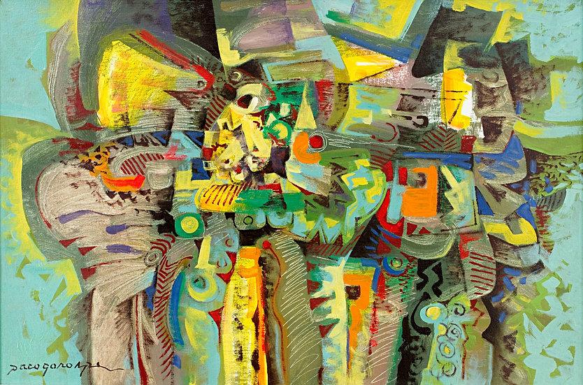 """Green Composition III - Francisco """"Paco"""" Gorospe"""