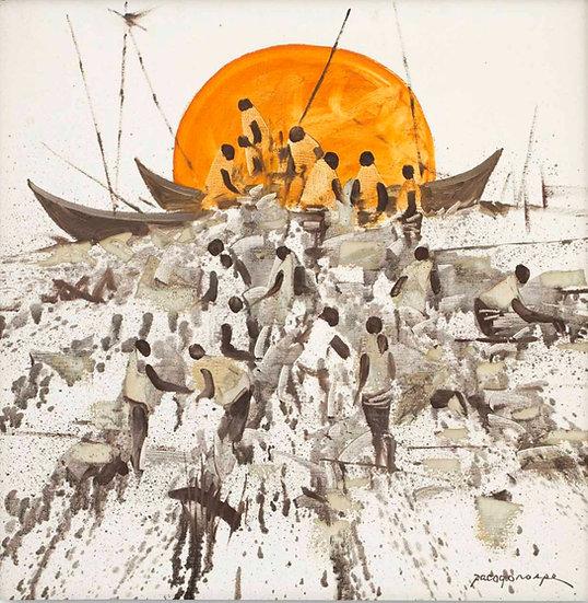 "Fishermen in sunset - Francisco ""Paco"" Gorospe"