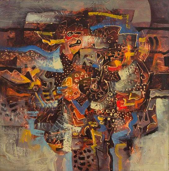 """Coloured Composition - Francisco """"Paco"""" Gorospe"""