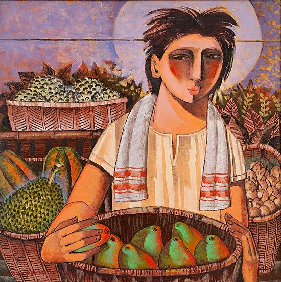 "Man with fruits - Francisco ""Paco"" Gorospe"