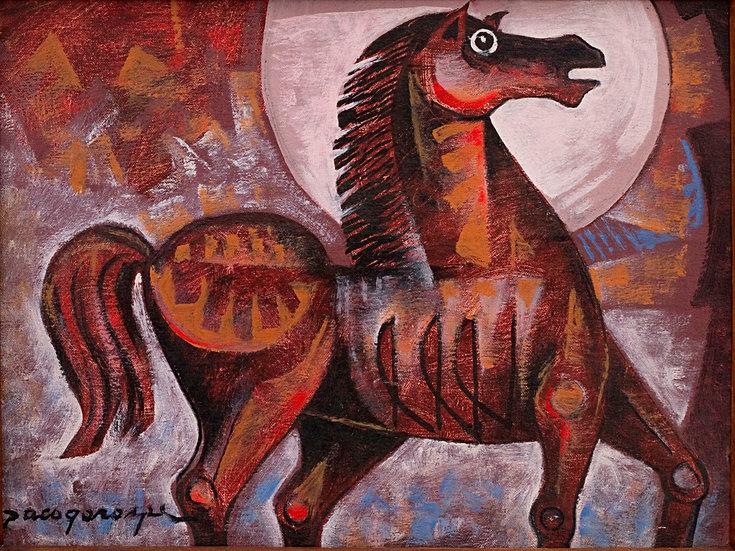 "Horse in moonlight - Francisco ""Paco"" Gorospe"
