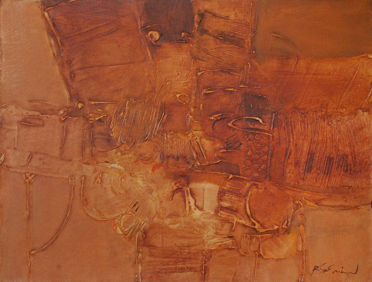 Abstract in Orange - Roger San Miguel