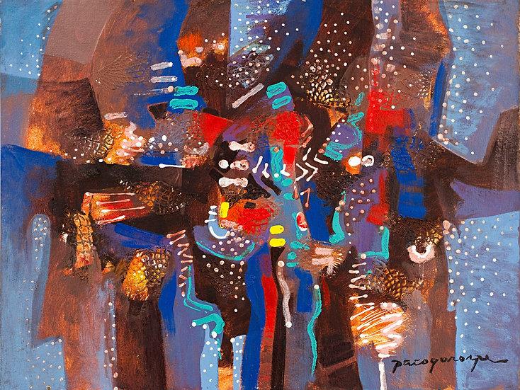 "White dots abstract - Francisco ""Paco"" Gorospe"