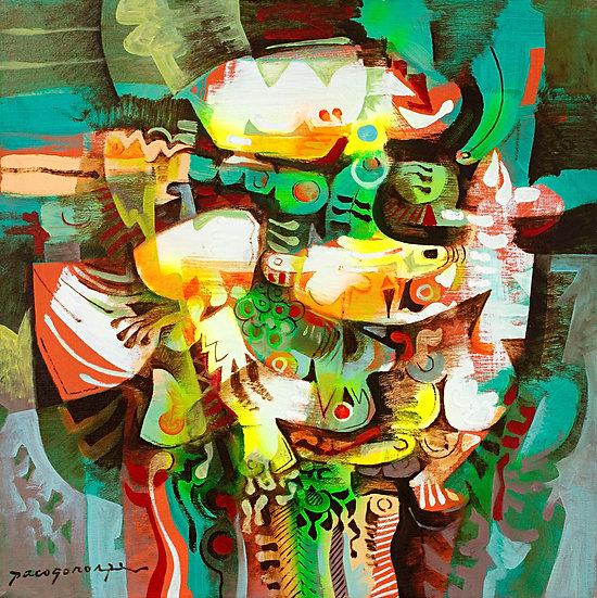 "Green Composition II - Francisco ""Paco"" Gorospe"