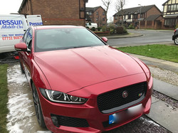 jaguar xe coated in absolute show off