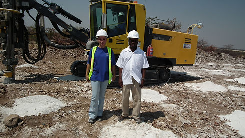 Mr.D Nuuyoma CEO (DBN)  visit to site wi