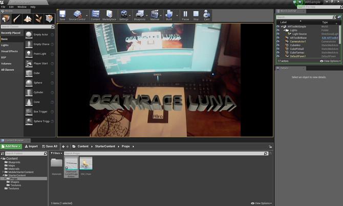 Unreal Engine 4 AR Test