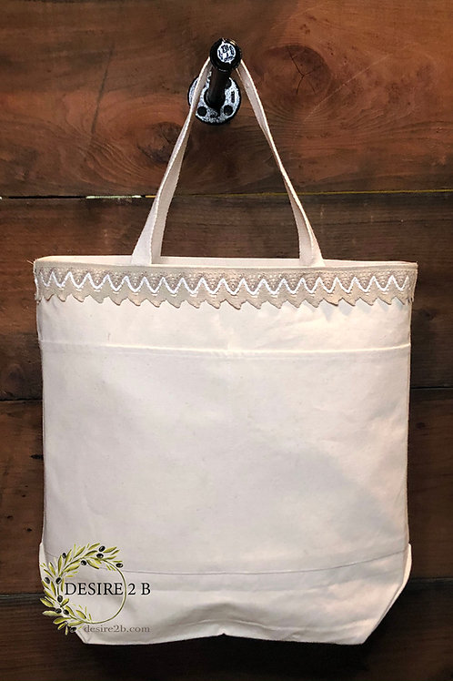 Chabby Chic Canvas Bag #3