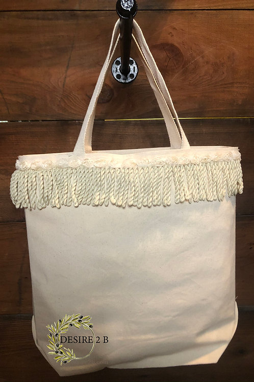 Chabby Chic Canvas Bag #1