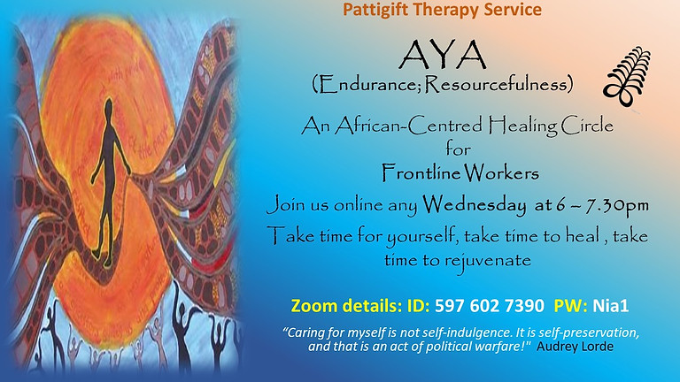 Healing Circles for Frontline Workers of African and Caribbean Heritage.