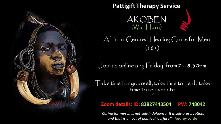 Healing Circles for Black Men of African and Caribbean Heritage.