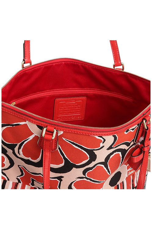 Coach Poppy Floral Scarf Tote