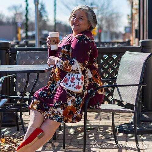Unbranded Faux Wrap Dress Size XL