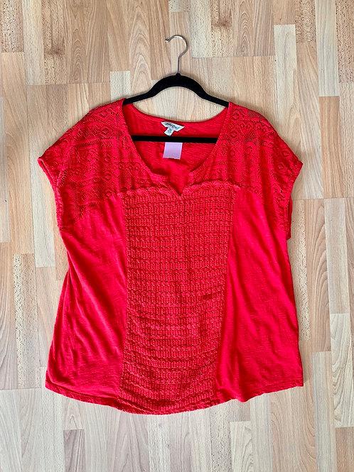 Lucky Brand Crochet Top Size 2x