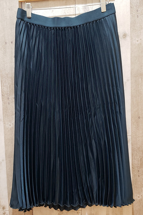 H & M Navy Pleated Skirt Size XL