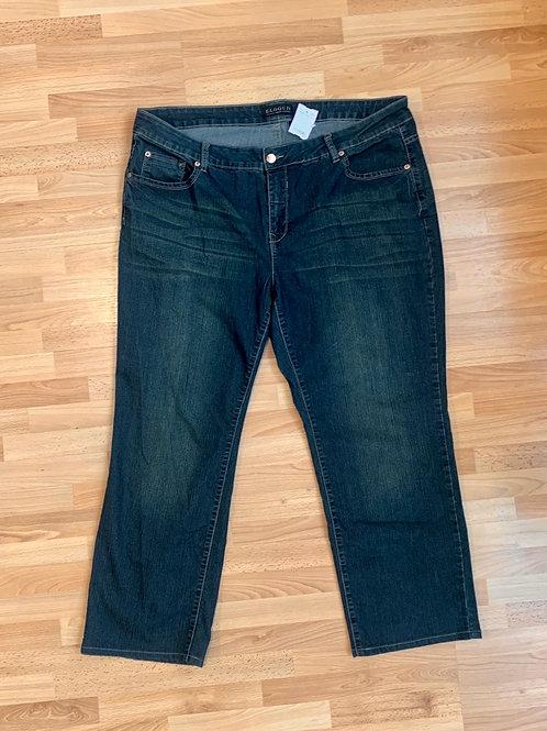 Eloquii Dark Wash Straight Jeans Size 22