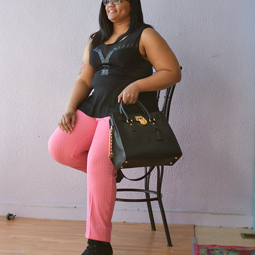 Torrid (BBC) Leather Accent Top Size 2 (18/20)