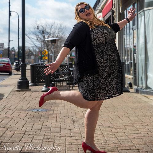 NWT Lane Bryant Cheetah Overlay Sleeveless Dress Size 24