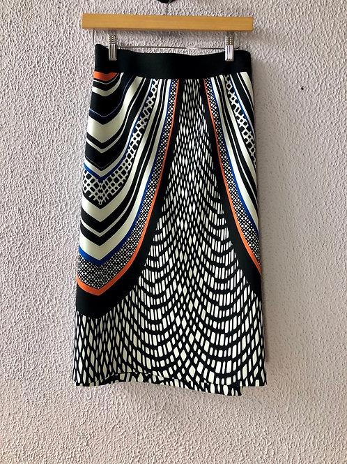 Eloquii Abstract Print Skirt 22