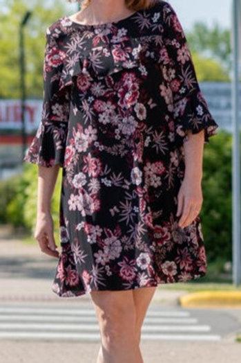 Jessica Howard Ruffle Accent Dress Size 12