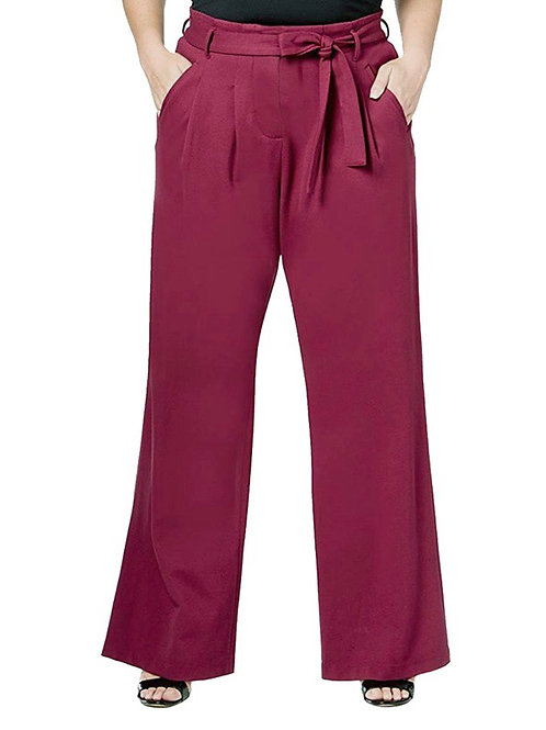 Wide leg pleated trouser pant 3X