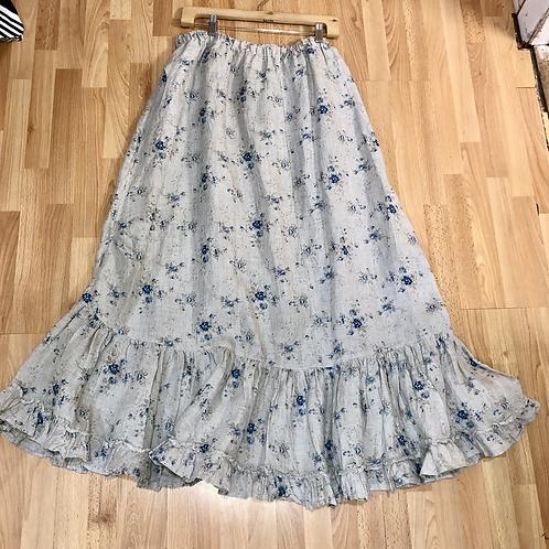 Heart's Desire Linen Prairie Skirt XL
