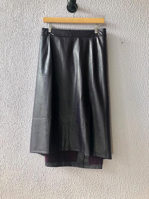 Catherines Black Label Pleather Skirt 3X