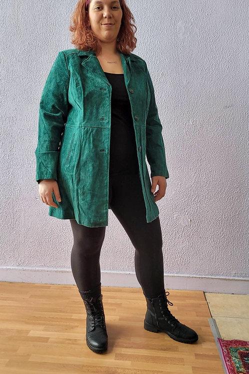 D & Co  Green Suede Coat - sz L