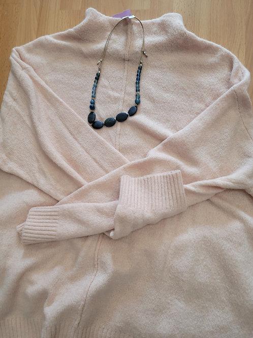 Ulla Popken Mock Neck Center Seam Pullover Sweater sz 16/18