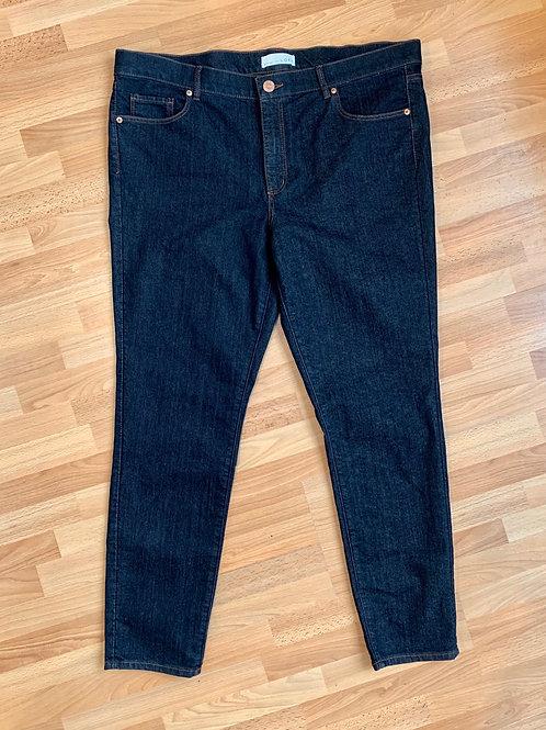 Ann Taylor Loft Dark Wash Skinny Jeans Size 14