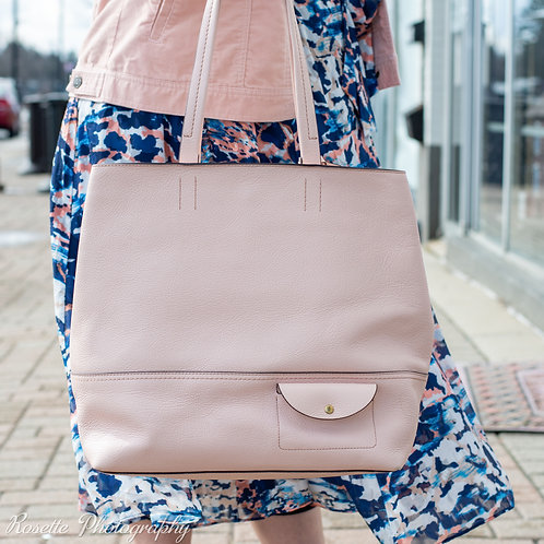 NWT J Crew Pink Leather Tote
