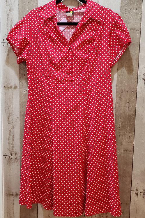 Petalo Polka Dot Dress Size 1X - Fits Like A Size 14