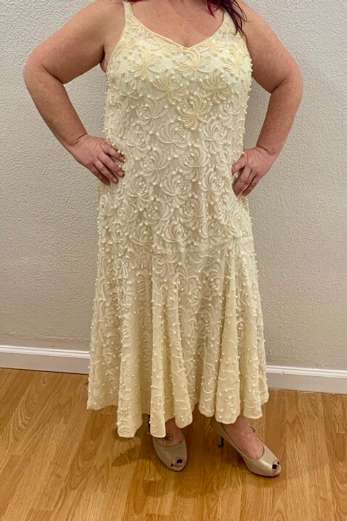 Pearl, Lace + Sequin Gown - Sz 2x