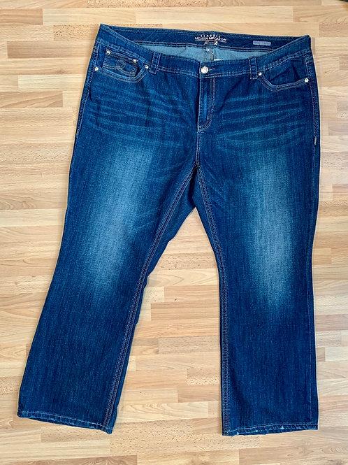 Melissa McCarthy Dark Wash Bootcut Jeans Size 28