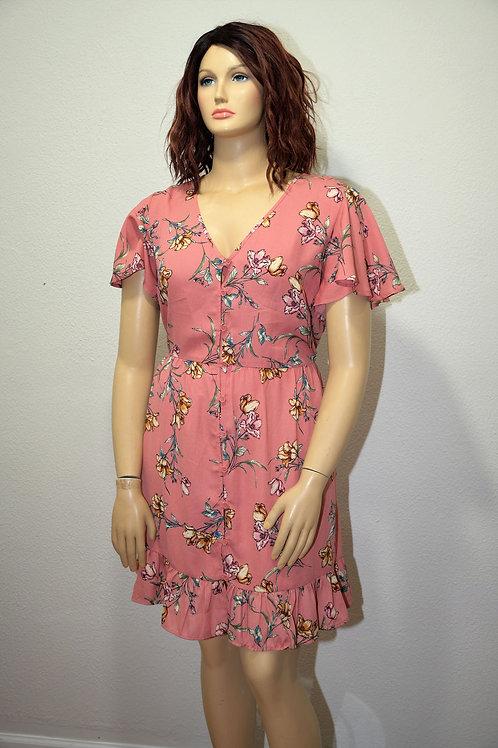 Xhilaration Floral Button-Up Dress Size 2X