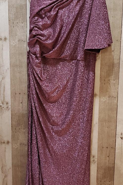 Adrianna Papell Pink & Black Glitter Dress Size 18W