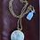 Thumbnail: Vintage enamel perfume locket necklace