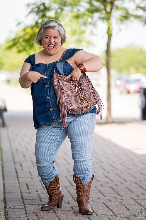 Silver Jeans Avery Pinstripe Skinny Jeans Size 16