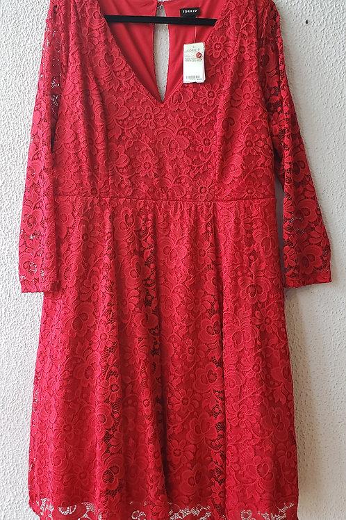 Torrid Long Sleeve Lace Dress NWT Size 18/20
