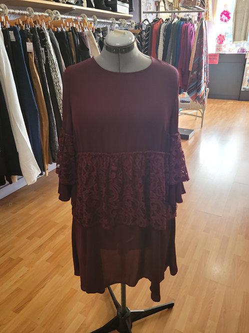 Simply Be Lace Panel Midi Dress sz 12